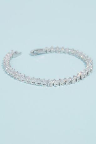 Marquise Cut Cubic Zirconia Tennis Bracelet