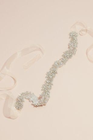 Sparkling Rhinestone Flower Chain Sash