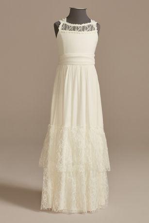 Long A-Line Sleeveless Dress - US Angels