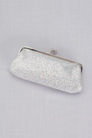Glitter Mesh Clutch