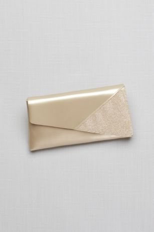 Morgan Metallic Foldover Clutch and Glitter Detail