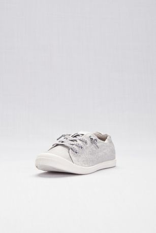 Madden Girl Grey Closed Toe Shoes (Slip-On Sneakers with Laces)