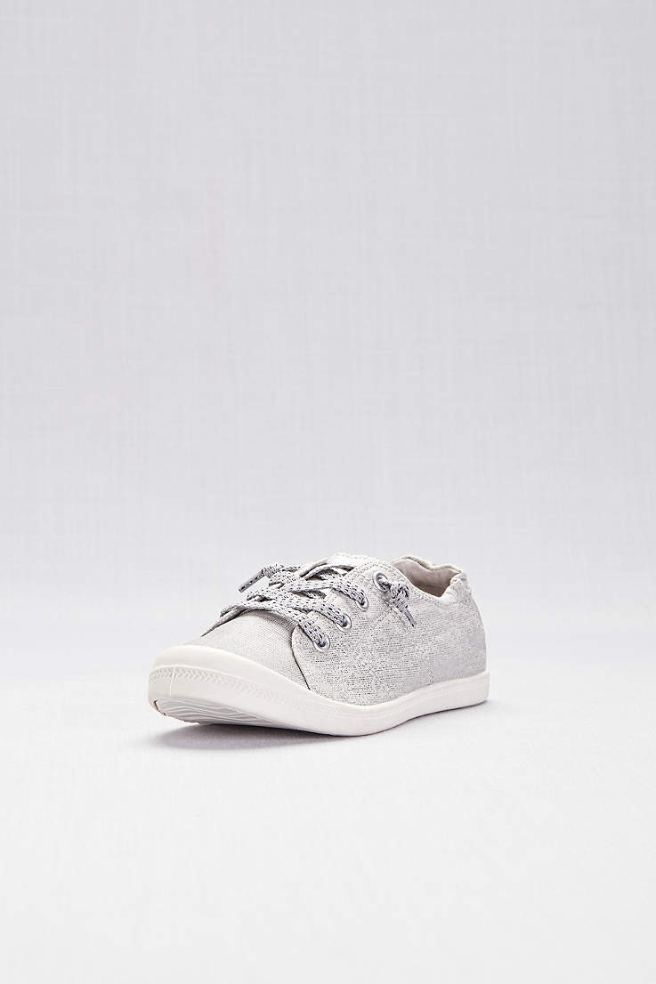 Madden Girl Grey Closed Toe Shoes (Slip-On Sneakers with Laces) f398492a3ea