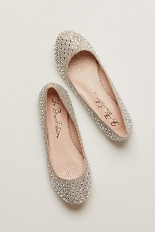 Blossom Beige;Grey Ballet Flats (Ballet Flat with Crystal Detail)
