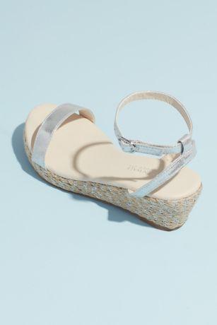 1f5afb783da Touch Ups Beige Grey Wedges (Metallic Strap Espadrille Wedge Sandals)
