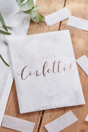 Metallic Scripted Throw Some Confetti Envelope