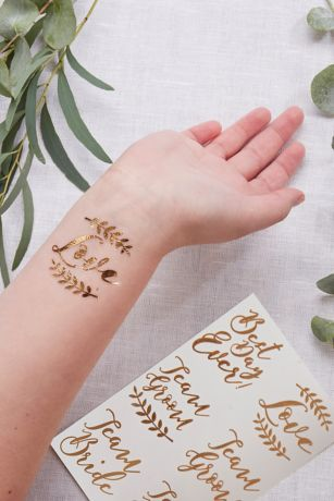 Rose Gold Temporary Tattoo Set