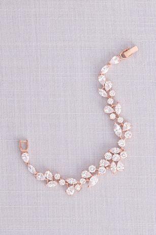 Scattered Cubic Zirconia Petals Bracelet