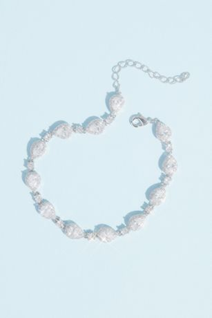 Haloed Teardrop and Solitaire Crystal Bracelet