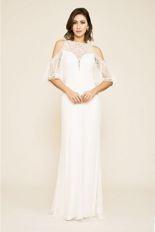 de11624ff44 Long Sheath Wedding Dress - Tadashi Shoji