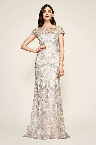 Formal dresses evening gowns for 2018 davids bridal long sheath cap sleeves formal dresses dress tadashi shoji junglespirit Image collections