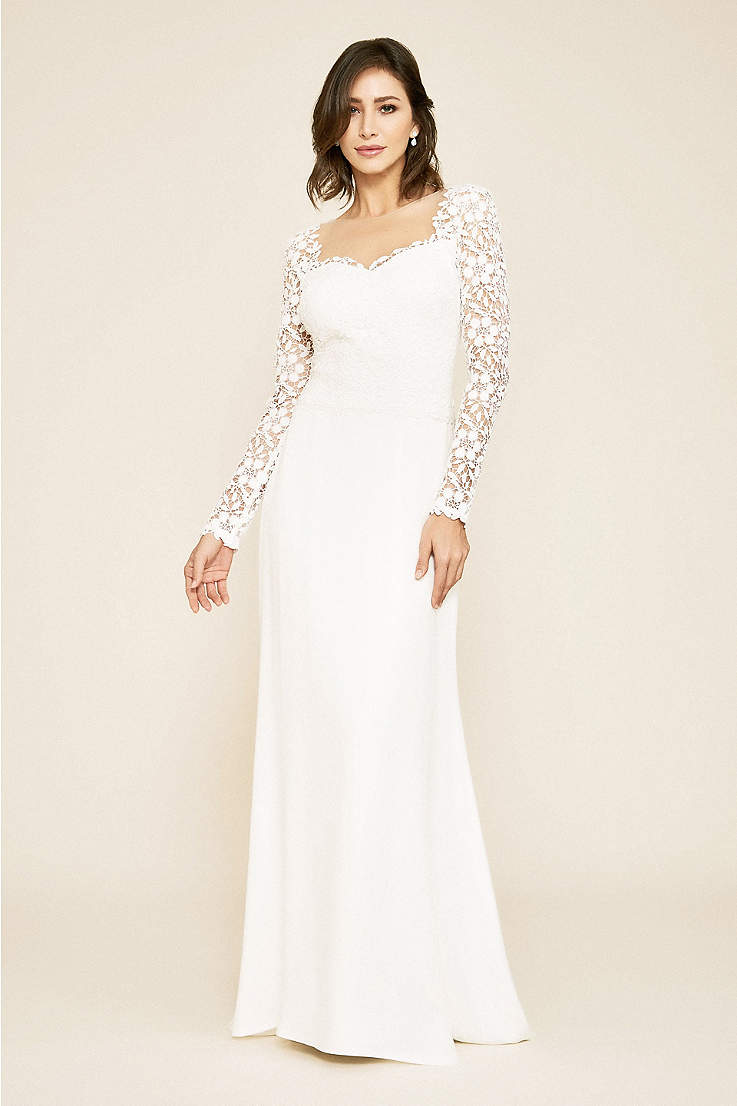52eca1ae6e0 Long Sheath Wedding Dress - Tadashi Shoji
