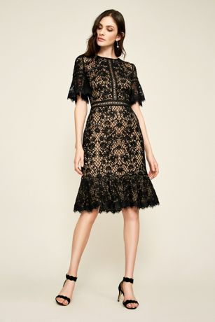 Short Sheath 3/4 Sleeves Dress - Tadashi Shoji