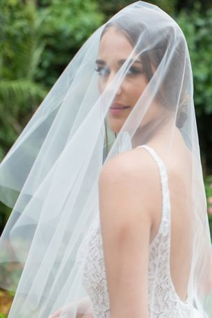 Silk Tulle Circle-Cut Drop Veil