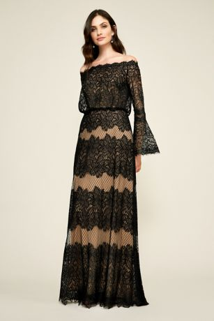 Long A-Line Long Sleeves Dress -