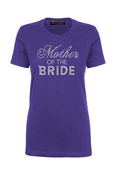 Mother of the Bride Big Bling T-Shirt