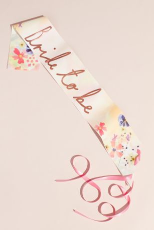 Metallic Bride to Be Floral Party Sash