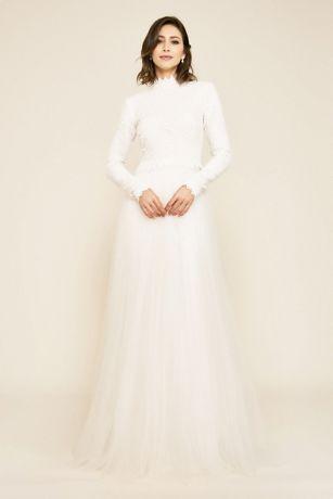 Long Ballgown Wedding Dress - Tadashi Shoji