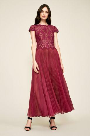 7fe4d38b899 Long Ballgown Cap Sleeves Dress - Tadashi Shoji