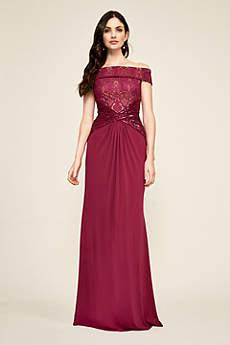 Long Mermaid/ Trumpet Off the Shoulder Formal Dresses Dress - Tadashi Shoji