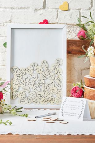 Drop Top Wooden Frame Guest Book Alternative