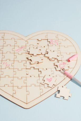Heart Jigsaw Puzzle Guest Book Alternative