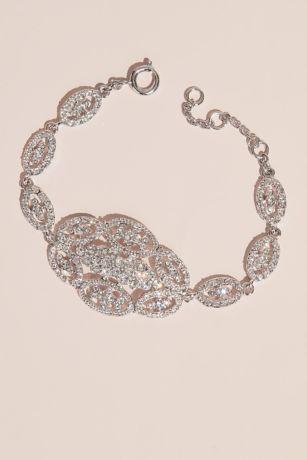 Swarovski Oval Cluster Crystal Link Bracelet