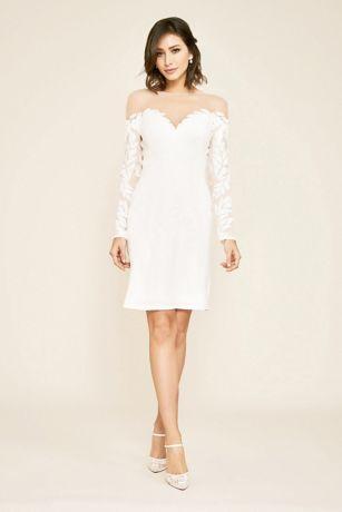 Short Wedding Dress - Tadashi Shoji