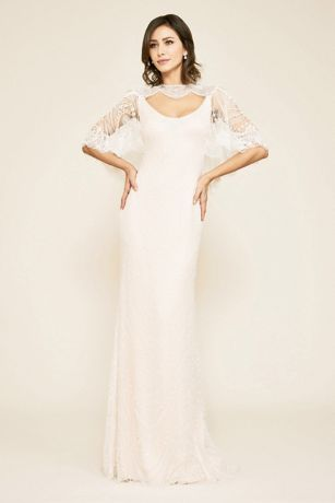 Long Wedding Dress - Tadashi Shoji