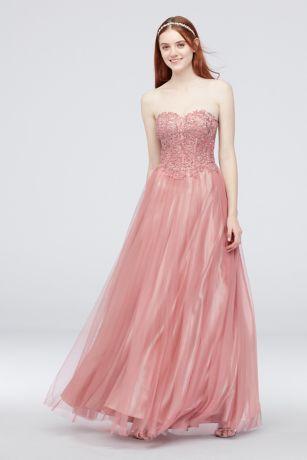 dbc05674bbb Long Ballgown Strapless Dress - Blondie Nites · Blondie Nites