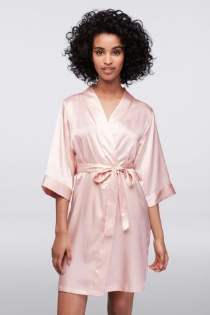 Floral Silk And Satin Bridesmaid Robes Davids Bridal