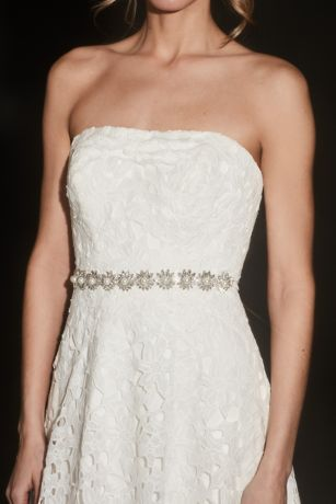 Marquise-Cut Crystal and Pearl Floral Burst Sash