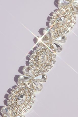Pave Crystal Infinity Sash with Teardrop Accents