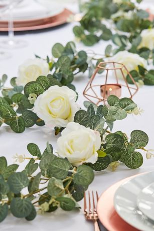 Eucalyptus and Rose Garland
