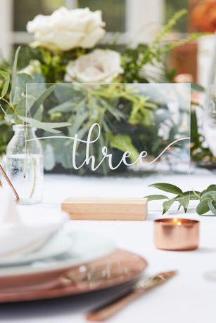 Wood and Acrylic Table Numbers