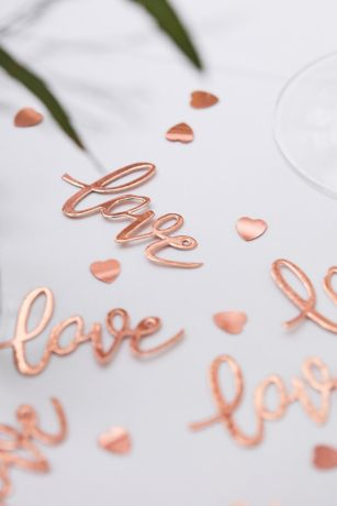 Rose Gold Love Confetti