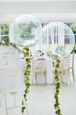 Clear Orb Foliage Vine Balloon