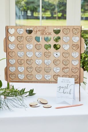 Wooden Game Board Guestbook Alternative