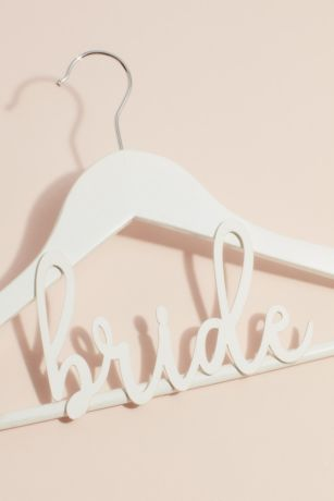 White Wooden Bride Hanger