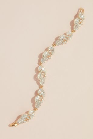 Haloed Marquise Crystal Clusters Bracelet