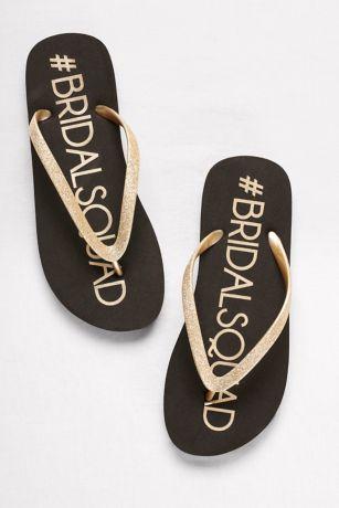 4af8561c6a453f David s Bridal Black Flip Flops (Bridal Squad Flip-Flops)