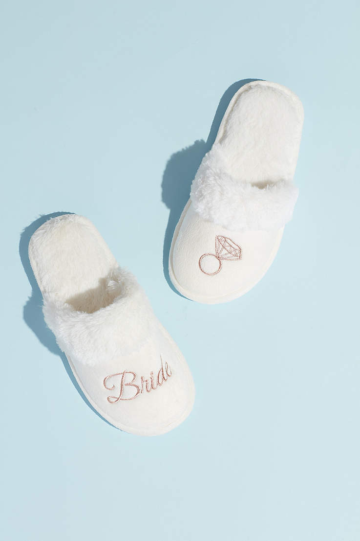 e68b5473fee Wedding Slippers for the Bride & Guests | David's Bridal