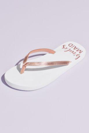David's Bridal Pink Flip Flops (Bridesmaid Glitter Flip Flops)