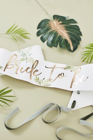 Gold Foil Bride To Be Sash