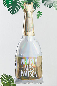 Gold Foil Customizable Champagne Bottle Balloon BS-430
