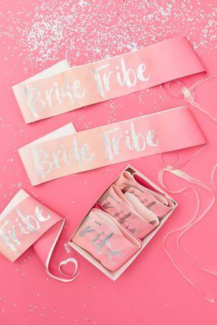 Bride Tribe Foiled Sash Set