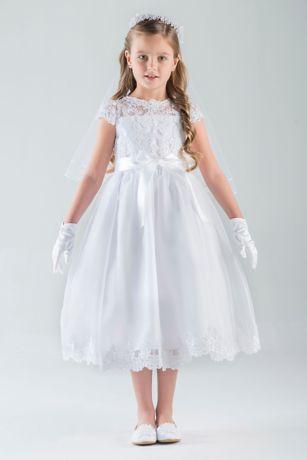 901973c083a Tea Length Ballgown Cap Sleeves Dress - US Angels