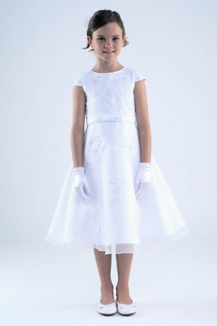 Long Ballgown Cap Sleeves Dress - US Angels