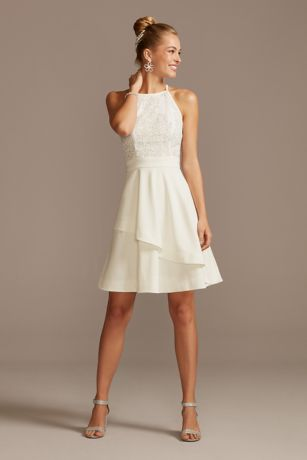 Short A-Line Halter Dress - Speechless