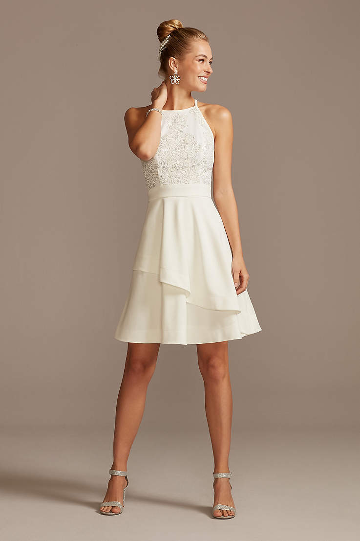 Graduation Dresses in White, Colors - High School, College